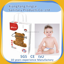 High quality breathable cloth-like backsheet Magic tape disposable baby nappy to UK