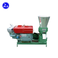 Flat die Diesel Engine Pellet Mill machine to make sawdust pellets