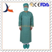 Xiantao Kaili Disposable 35gsm SMS oliver surgical gown with knit cuff