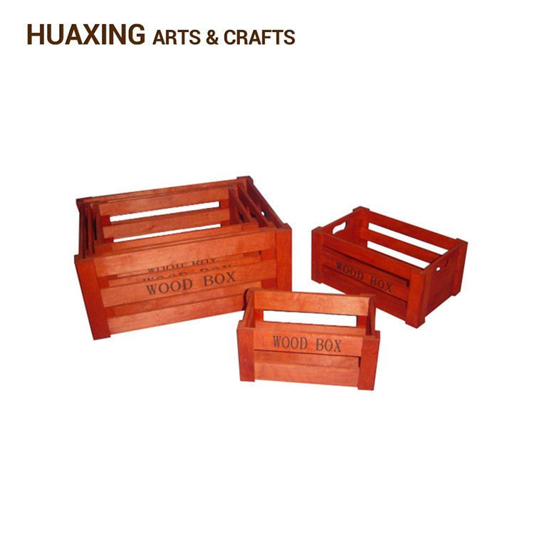 Custom printing decorative woven wooden storage basket/bins with fast delivery