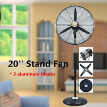 2017 Hot Selling 20 Inch industrial Stand Pedestal Fan with Air Cooler for Floor Standing Fan