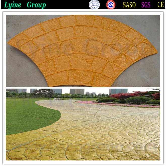 Imprinted Concrete/Concrete Imprinting Mats - Set of Large Cobble
