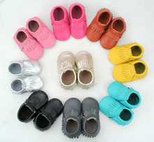 cheap Mix 10 Color fashion soft import whosale baby moccasin shoes