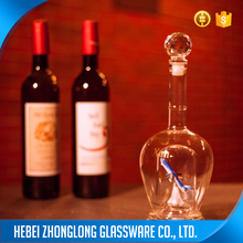 luxury 750ml standard red wine glass bottle dimensions