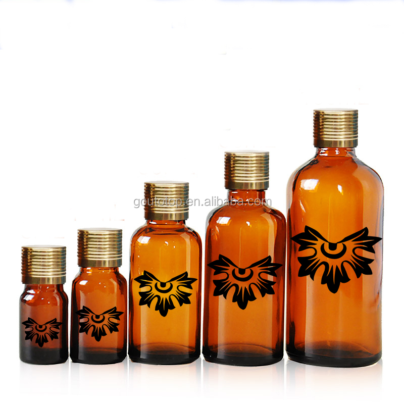 New product Decoration firing painting glass essential oil bottle Customized picture accepted glass bottle