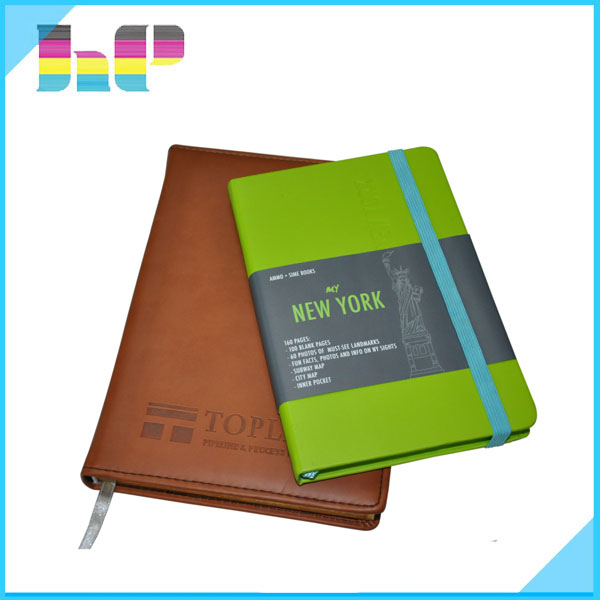 Diary Planner Organizer PU Leather Notebook printing for Promotion