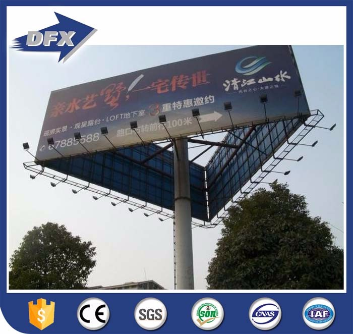 Galvanized Billboard Construction Outdoor Steel Metal Billboard Structure For Sale