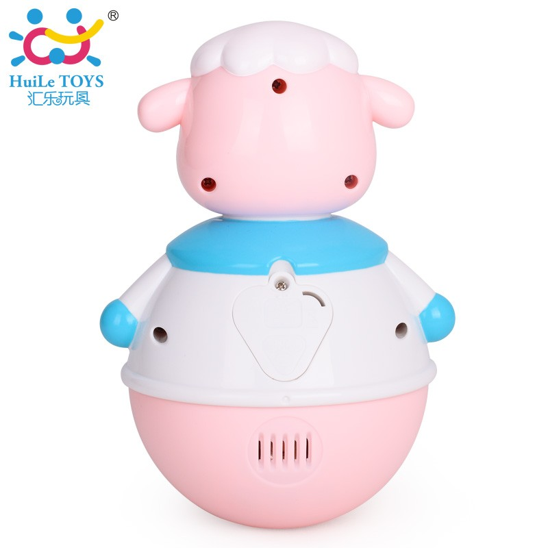 High Quality Plastic Cute Tumbler Sheep Toy with EN71