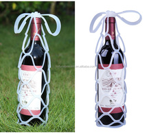 Multi-Functional and Eco-friendly Silicone Red Wine Bottle Carrier , Folding silicone Wine bag with handle