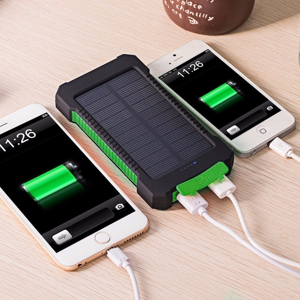 Best battery charger Portable Travel power bank 8000mAh waterproof Dual usb solar charger for all mobile phones