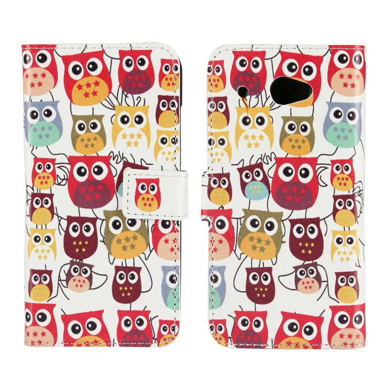 Phone Cases For HTC Desire 601 D601 Wallet Cover Leather Bag Mobile Accessories Coque Fundas Capa Etui Low Price Cute Owl Case