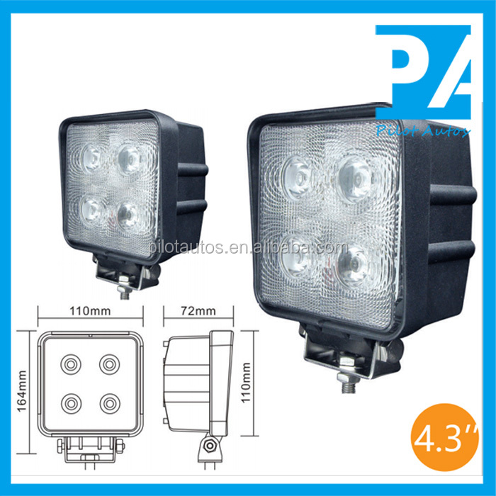 "40W 4.3"" inch Led Work Working Light For ATV SUV off road 4x4 heavy equipments Truck Jeep Motorcycle Boat 1640"