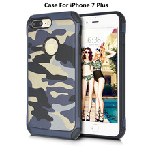 Hot Camouflage Drop-resistant TPU PC Combination Phone Case For iPhone 7 Plus Cover, Heavy Camo Cover For iPhone 7