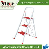 Made In China Newable Low Price Metal Used 3 Step Ladder With Handrail With GS Certificate