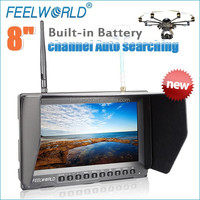 8 inch image adjustable wireless rc transmitter and receiver fpv monitor