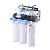 6 Stages Reverse Osmosis UV Drinking RO Water Filter System With Pressure Tank