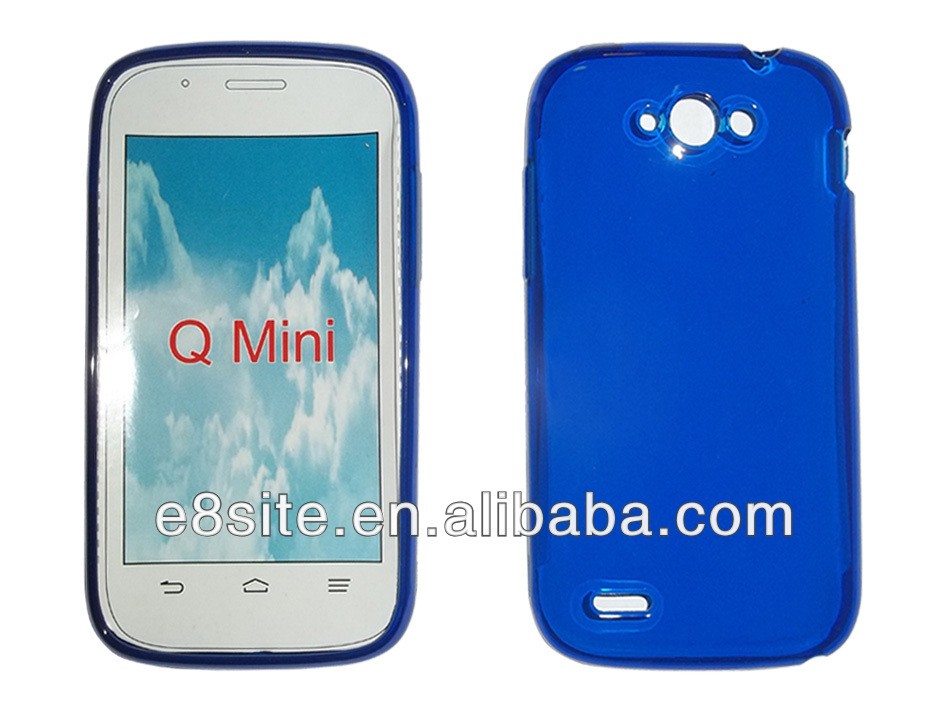 For ZTE Blade Q Mini Plain Glossy Rubber Phone Covers