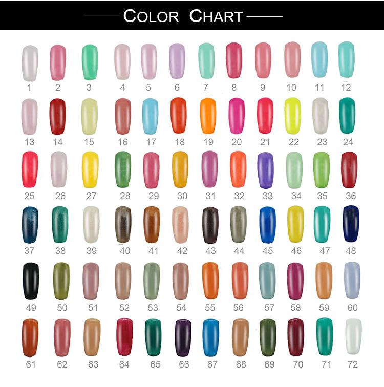 Mekeem Supply Colorful Organic Gel Nail Polish
