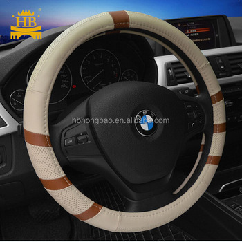 2017 Popular design genuine leather car steering wheel cover for all car