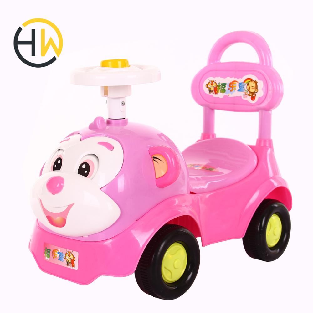 Newest cheap plastic ride on toys sliding baby car