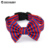 High Quality Canvas Fabric Bowtie Bow Dog Collar with Customized Logo