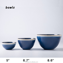 small or large deep ceramic cereal bowl