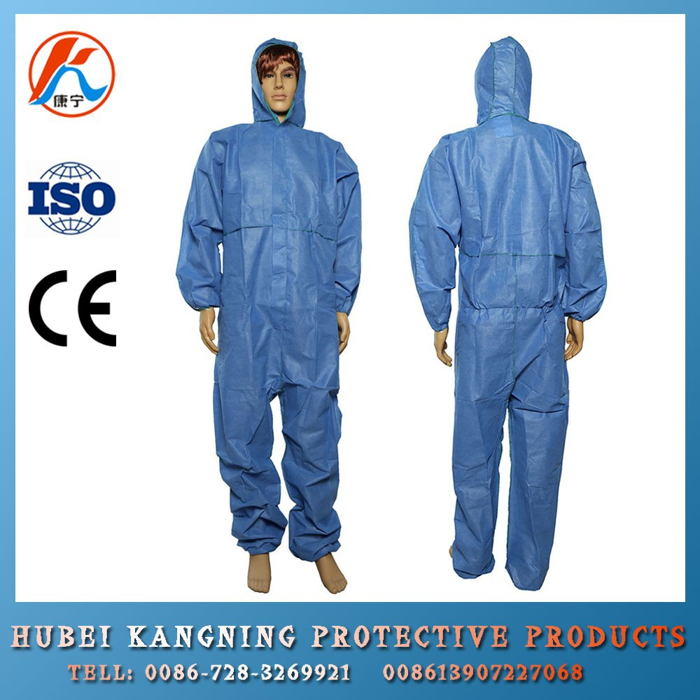 Factory Whole Sale disposable sms coverall with hood and boots