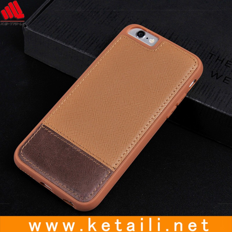 High quality unbreakable blank tpu mix leather cell phone case
