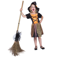 Children Cosplay Dress Halloween Kids Fancy Halloween Witch Costumes For Girls