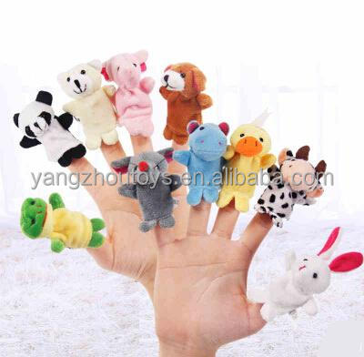hot sale cheap price plush animal finger puppet <strong>toy</strong> and story