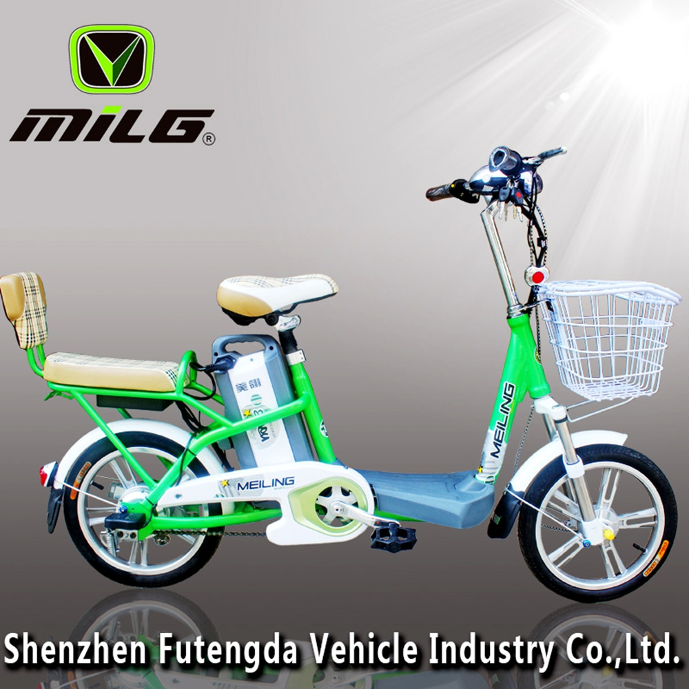 Most beautiful green power folding 2 seat electric bike