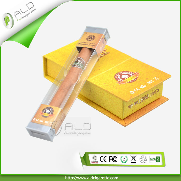 New disposable e cigar up to 1800puffs refillable electronic cigars