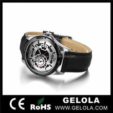 populau two colour leather strap new corporate gift watch