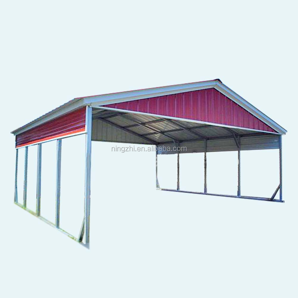 Portable steel carport for tall vehicles
