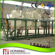 Small scale 1 - 10 tons per day soybean peanut sunflower palm crude oil refining machine