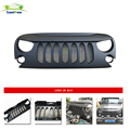 lantsun J264 Black Eagle Eye Falcon Eye AutoBot Front Grille with insert for 07-17 J eep Wrangler