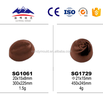 Food grade transparent pc chocolate bar mold