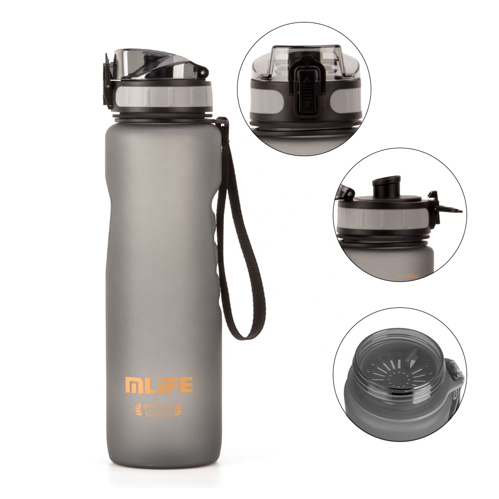 Mlife new 2020 trending product BPA Free 1000ml plastic drinking water bottle <strong>sports</strong>