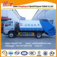Garbage truck for sale Yuejin 100hp used garbage compactor truck refuse collection vehicle