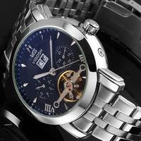 2016 Mechanical Quality Wrist Watches For Man Classic Business Watches Black Watches Luxury Man WM449