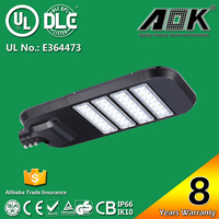 8 Years Warranty UL cUL DLC TUV CE RoHS SAA 160W LED Street Light Price List