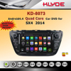 Android 4.4.4 quad core 16GB 1024*600 resolution mirror link rear monitor for sx4 double din car dvd gps