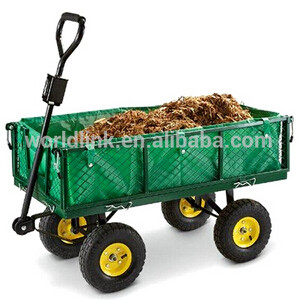 4 Wheels Easy Transporting Steel Garden Cart for Plant