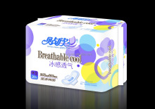 OEM High Absorbent Cotton Lady Sanitary Napkin/women pad/female sanitary napkin with PE cover