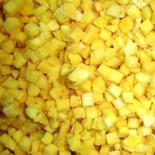 IQF processed grade A diced frozen mango