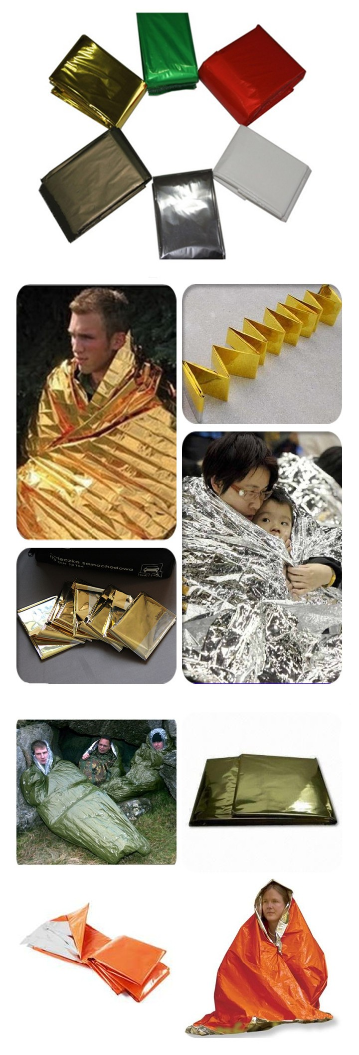 DW-EB01 Foil Survival Rescue thermal emergency blankets
