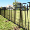 Professional curved metal fencing / modular fencing system / fence post sleeve