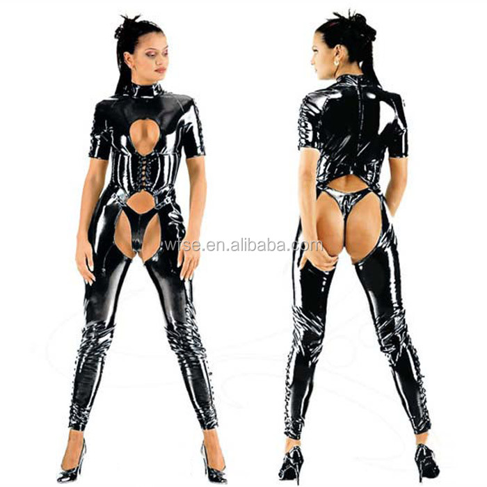 Wholesale Leather Catsuit Price Sexy Catsuit Late Pics Women Sexy Leather Catsuit