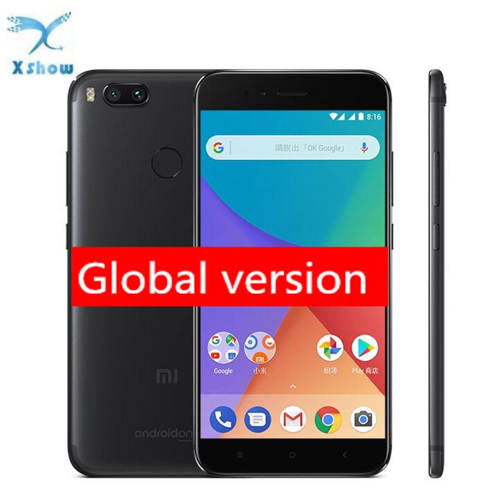 Global Version Xiaomi Mi A1 MiA1 Mobile <strong>Phone</strong> 4GB RAM 64GB ROM Snapdragon 625 Octa Core 12.0MP+12.0MP Dual Camera Android One