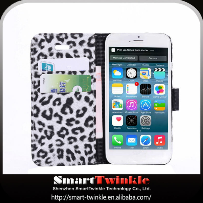 alibaba express leopard leather case for iphone 4